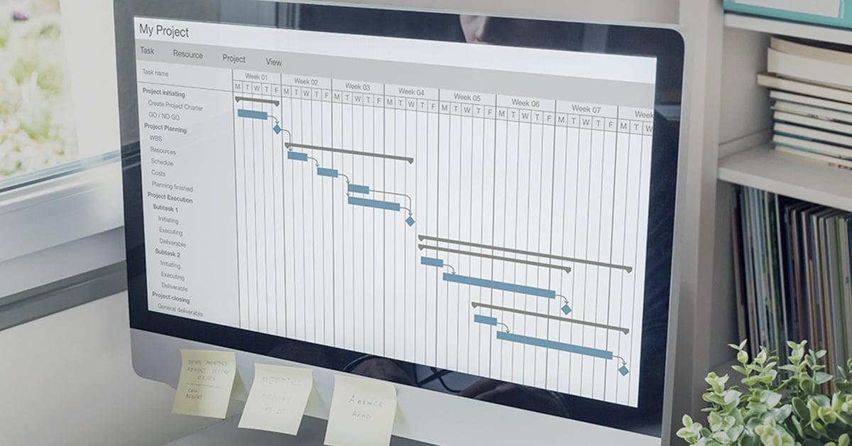 Projektplanlægning Gantt skema