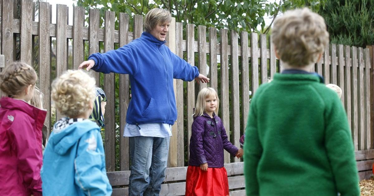 Dagtilbud i en forandret hverdag, pædagog og børn