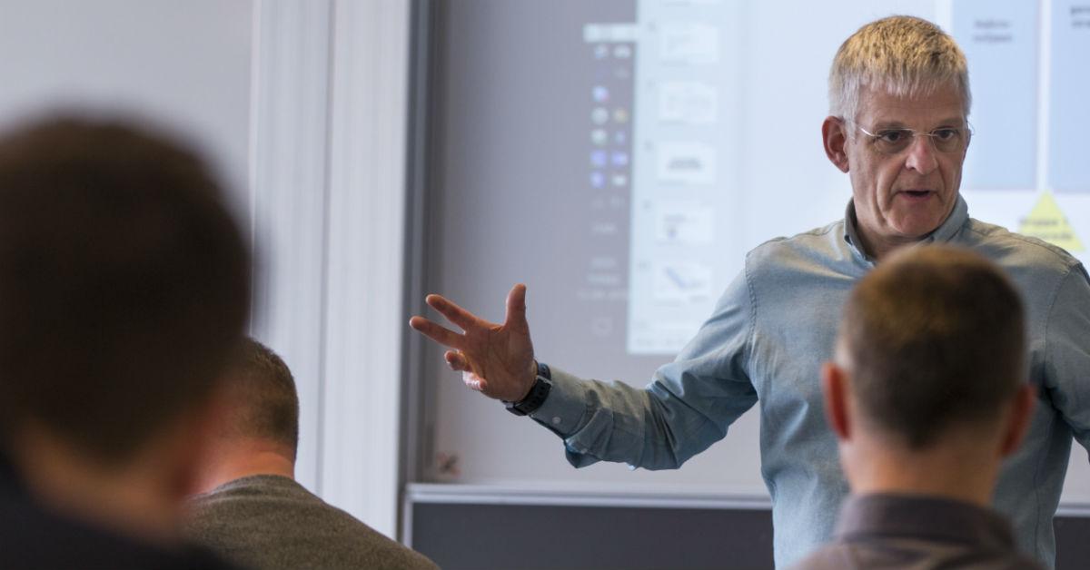 Undervisning på projektlederuddannelse
